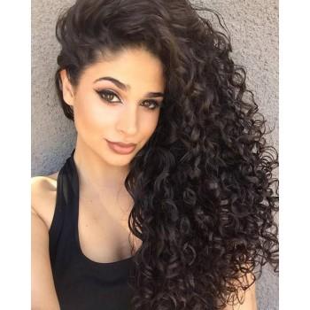 Deep Curly Full Lace Wigs Brazilian Virgin Hair FLW008