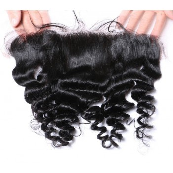 "Malaysian Lace Frontal Loose Wave 13""*4"" Ear to Ear Lace Closure LC0085"