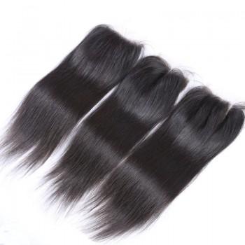 Peruvian Straight Virgin Hair 4*4 inch Lace Closure LC0077