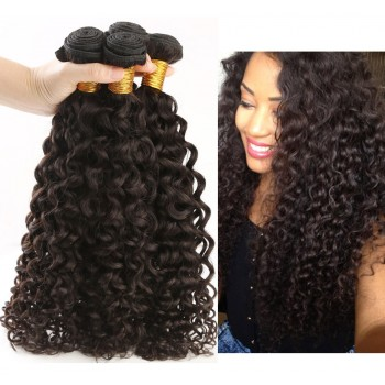 3pcs/lot Curly Virgin Peruvian Hair Bundles Top Sale 8''-30'' PD005