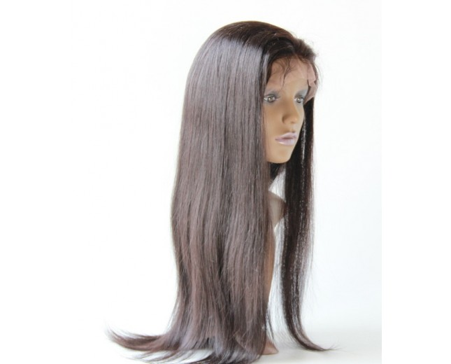 Brazilian Straight Virgin Hair Glueless Full Lace Wigs FLW006