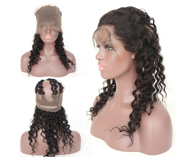 New Arrival Brazilian Curly 360 Lace Band Frontal Closure LC0075