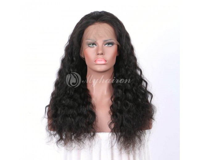 High Density Deep Wave 360 Lace Frontal Wigs 100% Brazilian Hair WDW360