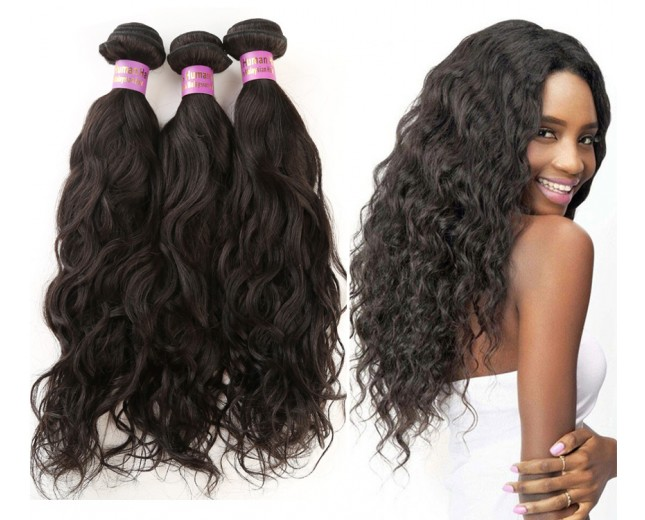 3 Bundles Water Wave Malaysian Virgin Hair Extensions MD009