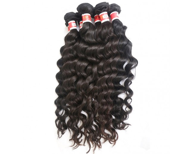3pcs/lot Deep Wave Virgin Peruvian Hair Weave Mixed Length PD007