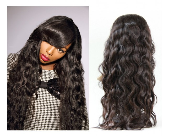 Brazilian Remy Hair Body Wave Glueless Full Lace Wigs FLW0014