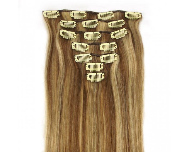 #12/613 Clip In Hair Extensions Straight CR0010