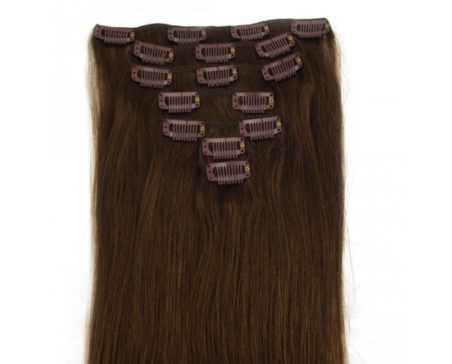 #4 Clip In Hair Extensions Straight CR0012