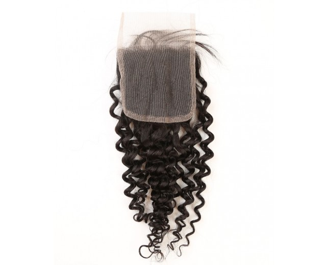 Brazilian Curly Lace Closure Free Middle 3 Part Virgin Human Hair Closure LC0016