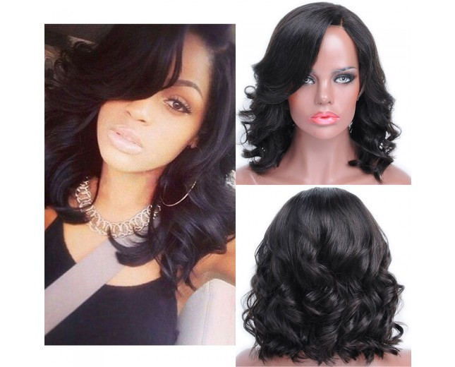 New Bob Loose Wave Brazilian Virgin Hair Lace Front Wigs LFW0073