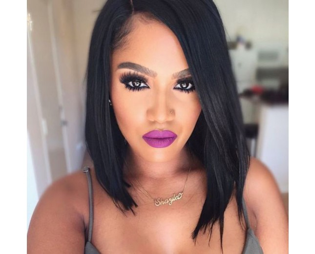 Hot Selling Fashion Straight Brazilian Human Hair Lace Front Wig LFW0058