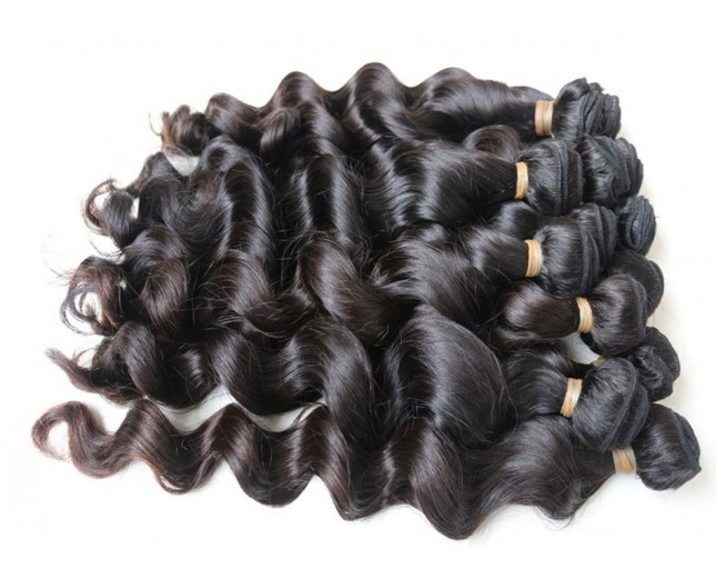 2pcs/lot Loose Wave Brazilian Virgin Hair Weave BD0019