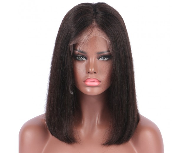 Bob Straight 13x6 Deep Part Lace Front Human Hair Wigs LFW0102