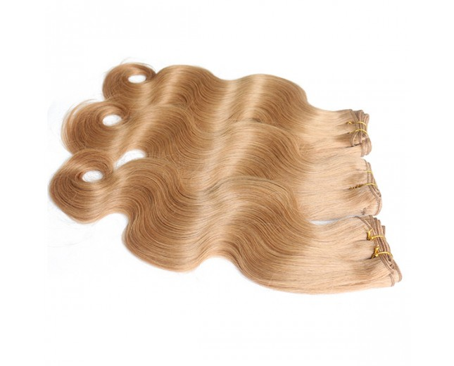 Honey Blonde 27# Brazilian Body Wave Virgin Hair Extensions BV0038