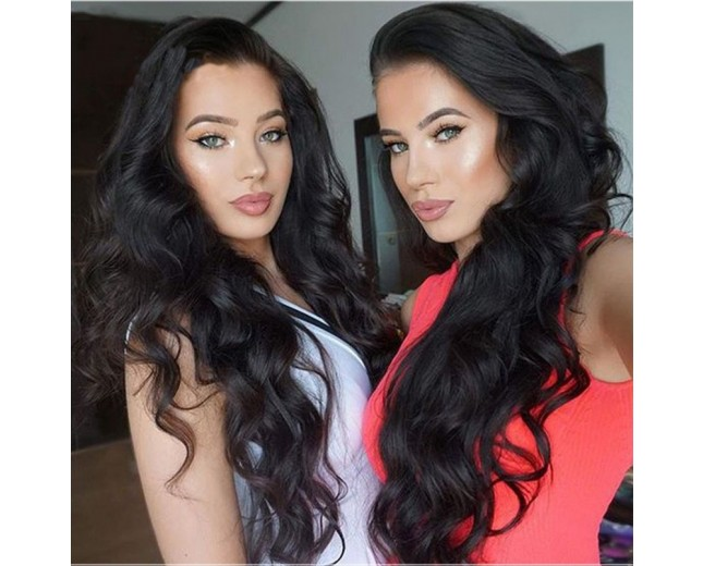 100% Brazilian Human Hair Body Wave Glueless Full Lace Wigs FLW0040