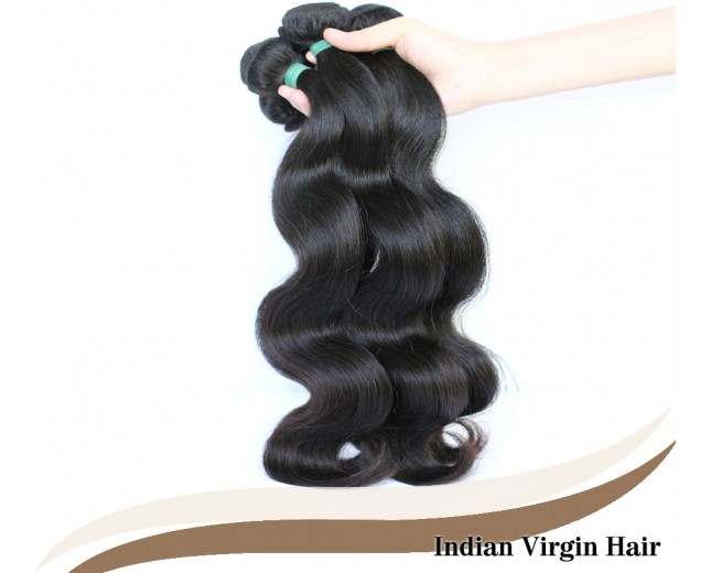 3pcs/lot Virgin Indian Hair Weave Bundles Body Wave ID001