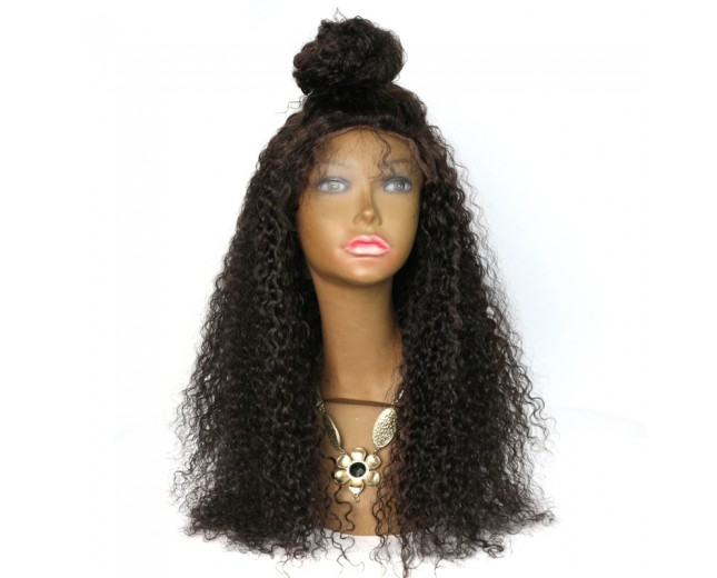 Glueless Full Lace Wigs Afro Curly Brazilian Virgin Hair FLW0035