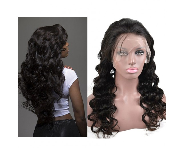 Loose Deep Wave Full Lace Wigs Brazilian Virgin Hair FLW0037