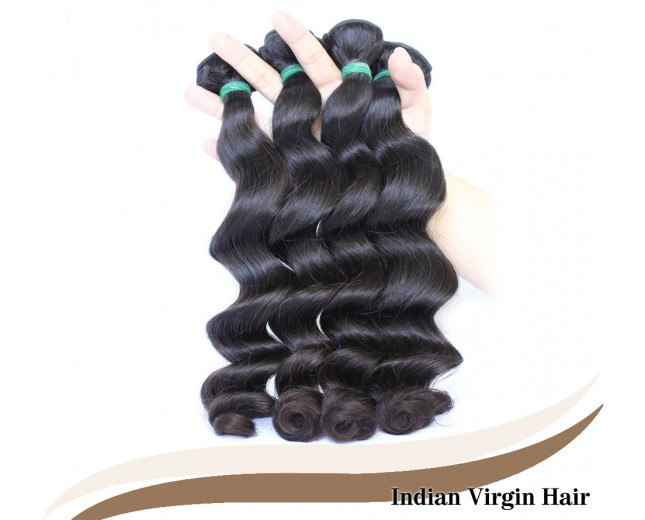 3pcs/lot Loose Wave Indian Virgin Hair Weave Bundles ID003