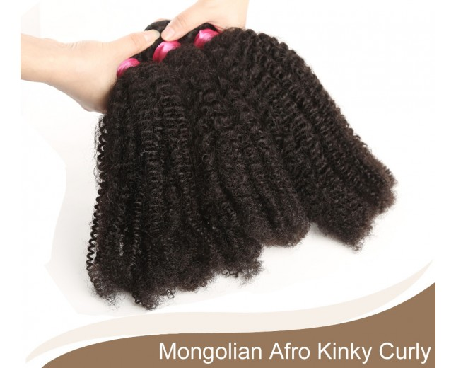 1 bundle Mongolian Afro Kinky Curly Virgin Hair 100% Human Hair GV004