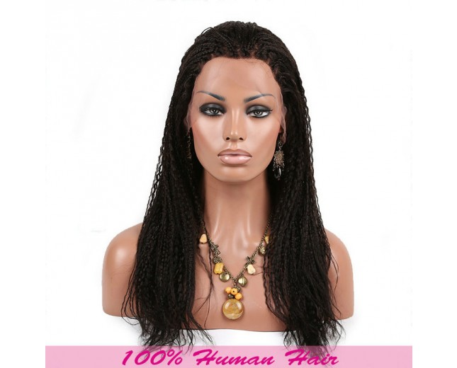 African Micro Braided Lace Front Wigs Brazilian Virgin Hair LFW0022