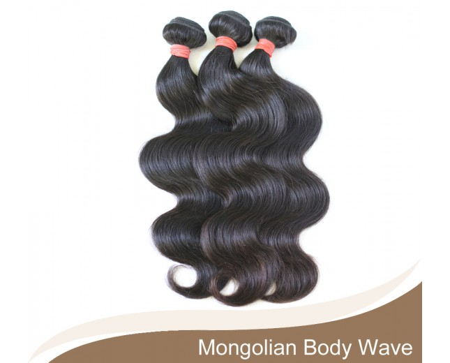 3pcs/lot Mongolian Body Wave Virgin Hair Bundles GD003