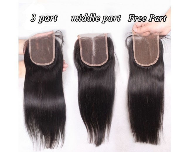 Malaysian Straight Virgin Hair 4*4 inch Lace Closure LC0080