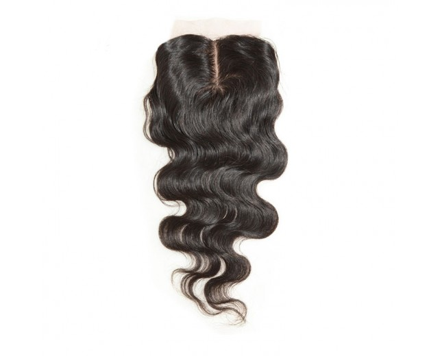 3.5''*4'' Middle Part Lace Closure Virgin Brazilian Hair Body Wave LC009