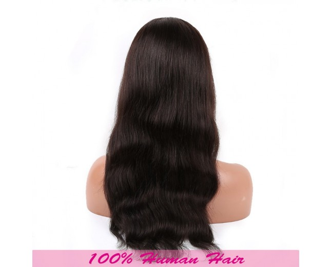 Natural Straight Brazilian Virgin Hair Lace Front Wigs LFW007