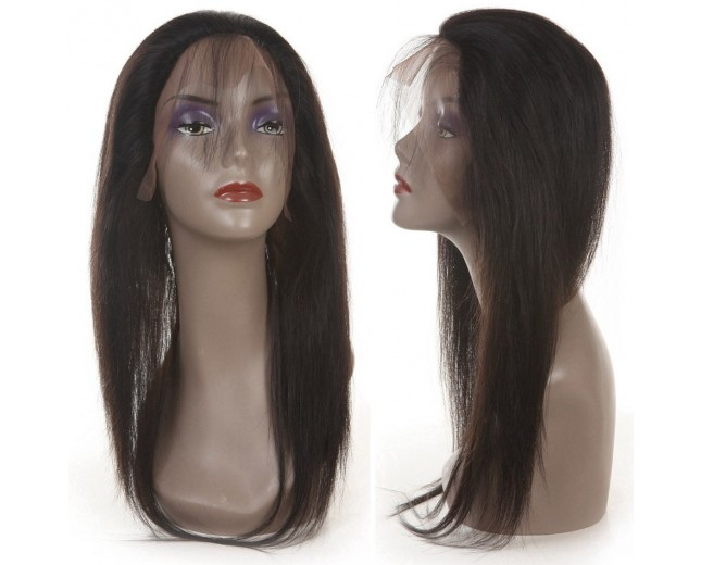 Peruvian Hair Straight 360 Lace Band Frontal Closure LC0087