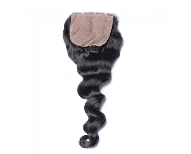Brazilian Loose Wave Silk Base Closure 4''*4''  LC0027