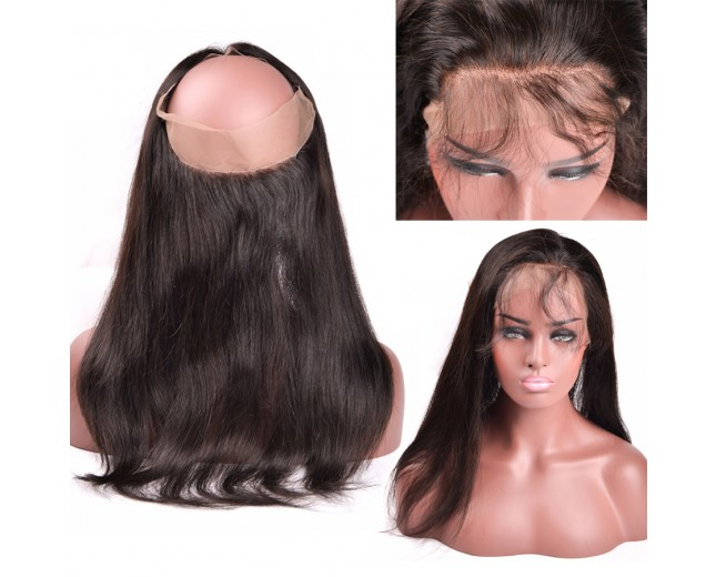 New Arrival Straight 360 Lace Band Frontal Closure LC0070