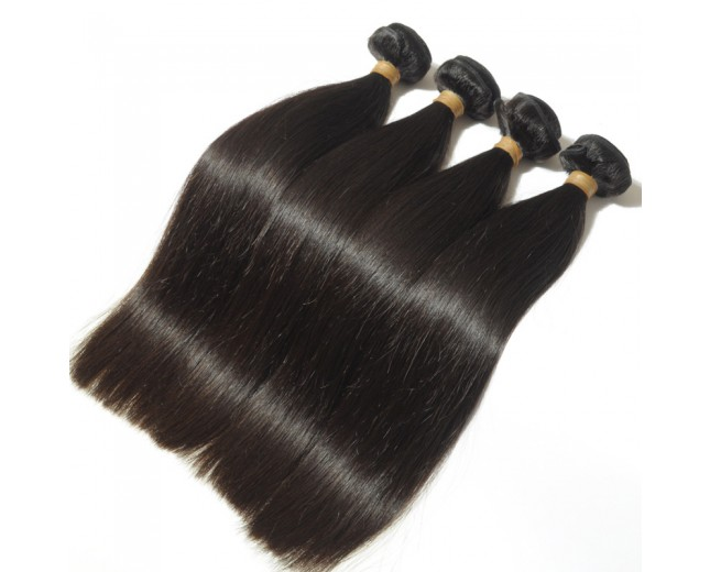 4pcs/lot Peruvian Straight Virgin Hair Weave Bundles PD0021