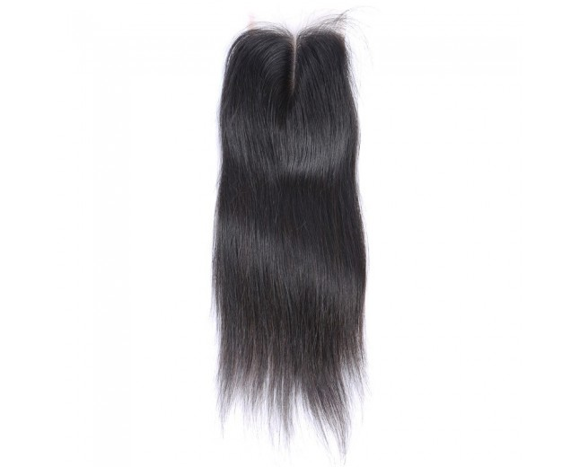 4''*4'' Middle Part Straight Lace Closure Virgin Brazilian Hair LC0011