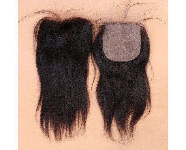 Brazilian Straight Silk Base Closure Virgin Hair 4''*4''  LC0025