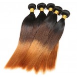 Brazilian Ombre Straight Remy Hair Extensions Three Tone 1B/4/30# BR0061