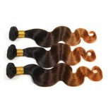 Brazilian Ombre Body Wave Remy Hair Extensions Three Tone 1B/4/30# BR0060