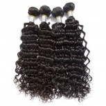 4pcs/lot Deep Wave Brazilian Virgin Hair Weave Bundles BD0066