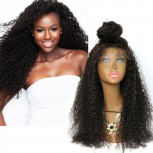 Afro Kinky Curly Lace Front Wigs Brazilian Virgin Hair LFW0020