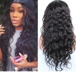 Water Wave Brazilian Virgin Hair Lace Front Wigs LFW0034