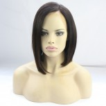 New Arrival Brazilian Human Hair Straight Short Bob Lace Front Wig LFW0054