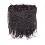 13''*4'' Kinky Straight Lace Frontal Brazilian Virgin Hair LC0057