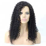 100% Brazilian Human Hair Deep Curly Side Parting Full Lace Wigs FLW0013