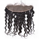 13''*4'' Deep Wave Lace Frontal Brazilian Virgin Hair LC0047