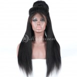High Density Fine Yaki 360 Lace Frontal Wigs 100% Brazilian Hair WFY360