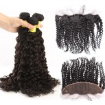 3 Bundles Curly Hair with 1pc 13''*4'' Lace Frontal Virgin Brazilian Hair BF003