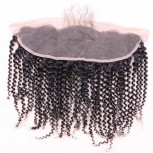 13''*4'' Kinky Curly Lace Frontal Brazilian Virgin Hair LC0050