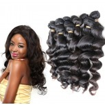 4pcs/lot Loose Wave Virgin Brazilian Hair Weave Bundles BD0062