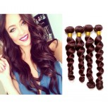 Brazilian Virgin Hair Weave Loose Wave 99J# Burgundy BV0041
