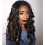 Brazilian Loose Wave Full Lace Wigs Middle Parting with Bangs FLW0043